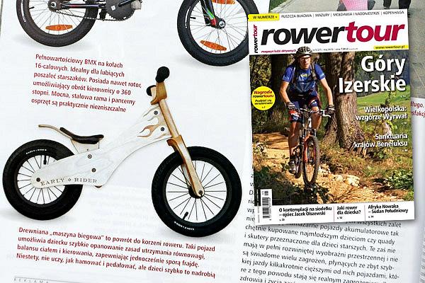 """Rowerek biegowy Ealry Rider Classic jako ilustracja artykułu """"Dwa, trzy lub cztery kółka"""" w magazynie RowerTour (autor: Łukasz Wiśniowski)"""