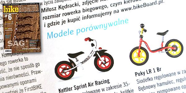 Modele porównywalne Puky LR 1L Br oraz Kettler Sprint Air Racing - magazyn rowerowy bikeBoard o FirstBIKE