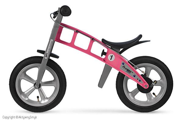 Rowerek biegowy FirstBIKE Street różowy