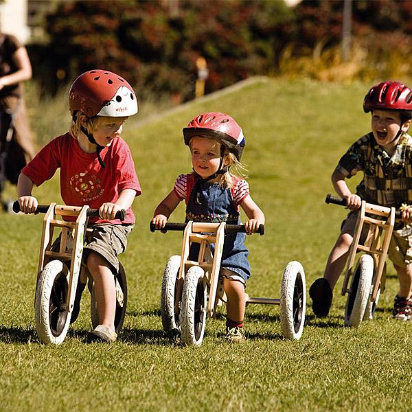 W akcji - rowerek biegowy/trójkołowy Wishbone Bike