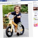 Levi McConaughey śmiga na rowerku biegowym Early Rider Lite