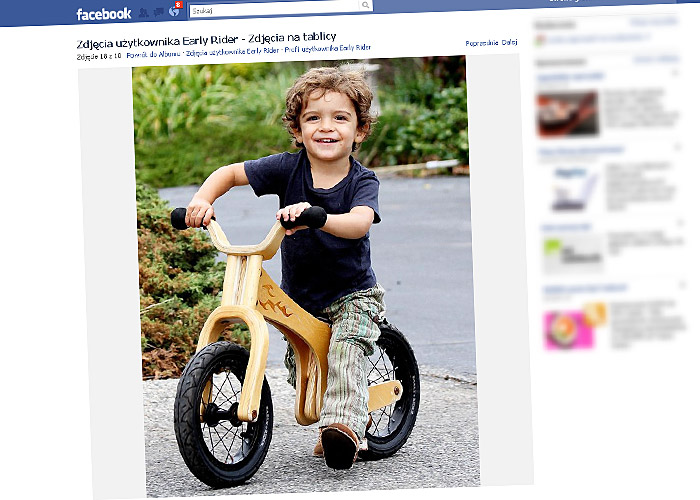 Levi McConaughey na rowerku biegowym Early Rider Lite