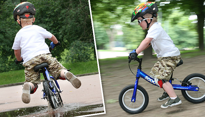 Rowerek biegowy w akcji