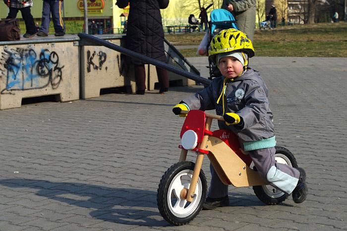 Wyszek i rowerek biegowy Sevi