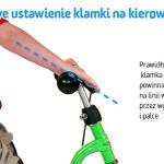 Prawidłowe ustawienie klamki hamulca na kierownicy