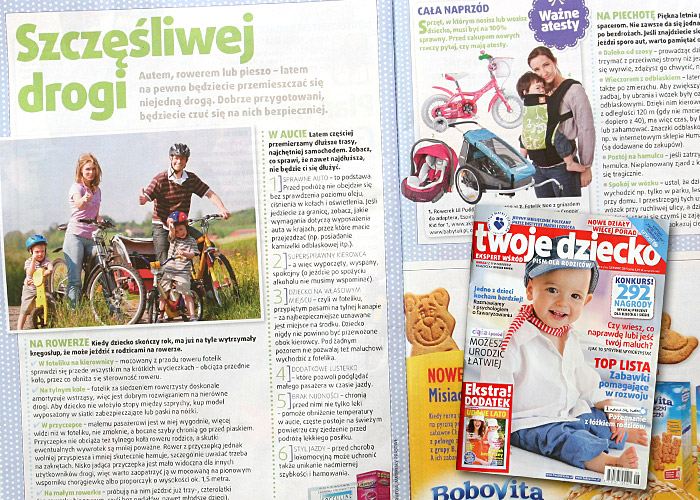 Przyczepka Croozer | tekst Szczęśliwej drogi - magazyn Twoje Dziecko