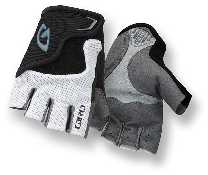 Rękawiczki rowerowe Giro Bravo JR biało-czarne