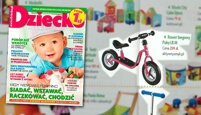 Rowerek biegowy Puku LR M w miesieczniku DZIECKO (październik 2011)