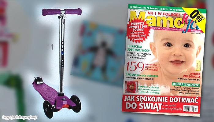 Hulajnoga Maxi Micro | Prezent dla starszaka - miesięcznik Mamo to ja nr 12 (grudzień 2011)