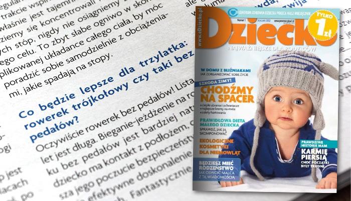 źródło: Paweł Zawitkowski - Zdrowie - Sport na miarę - miesięcznik Dziecko nr 1 (styczeń 2012)