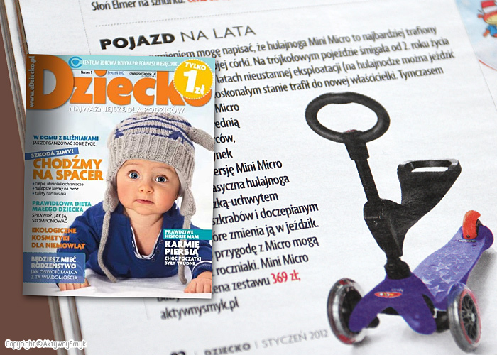 Hulajnoga Mini Micro Baby Seat | Zakupy - Co nowego co dobrego - miesięcznik Dziecko nr 1 (styczeń 2012)