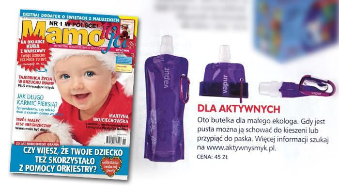 Butelka VAPUR | źródło: Miesięcznik Mamo to ja nr 1 (styczeń 2012)