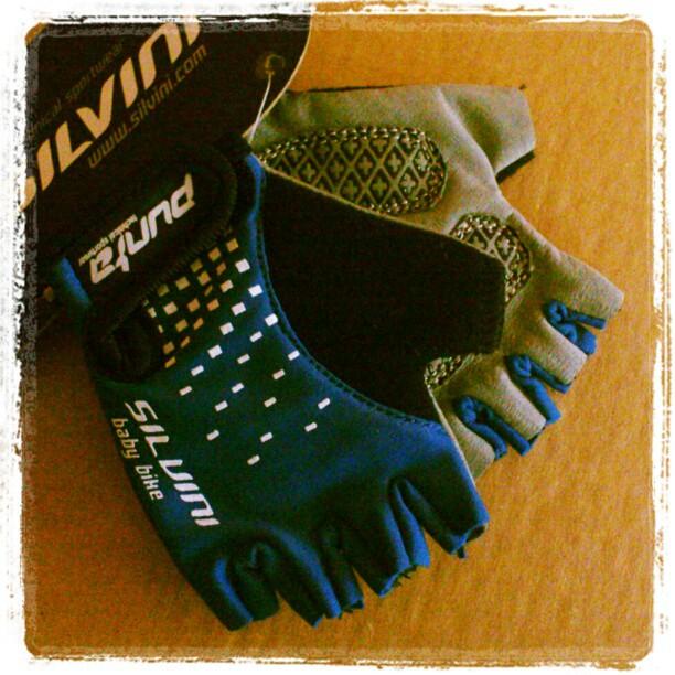 Rękawiczki rowerowe dla dziecka Silvini niebieskie