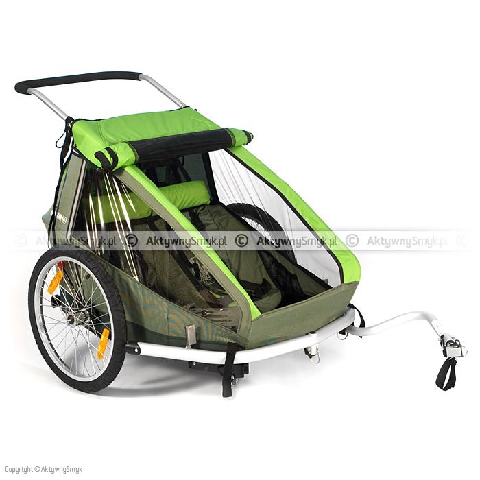 Przyczepka rowerowa Croozer Kid for 2 zielona