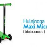 Hulajnoga Maxi Micro i błotoooo