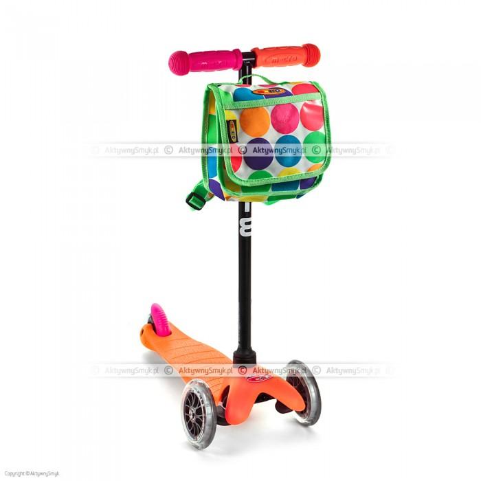 Hulajnoga Mini Micro Neon pomarańczowa + plecak w kropki