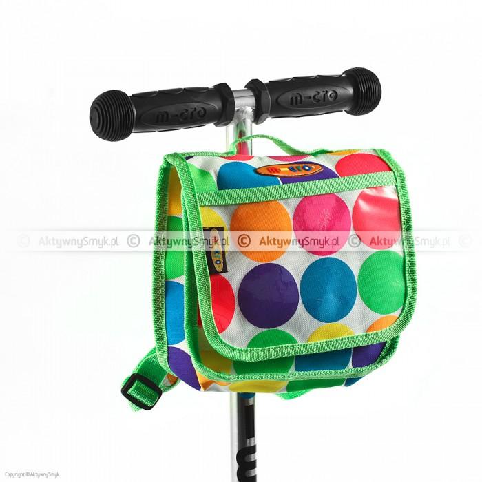 Plecaczek na hulajnogę Micro w kolorowe kropki