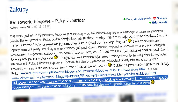 Re: rowerki biegowe - Puky vs Strider