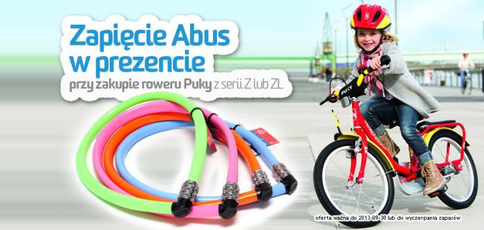 Promocja! Zapięcie Abus w prezencie przy zakupie rowerka Puky