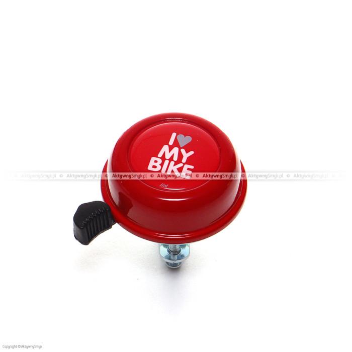 Czerwony dzwonek I Love My Bike