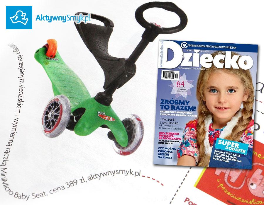 Jeździk i hulajnoga Mini Micro Baby Seat - pomysł na prezent miesięcznika Dziecko