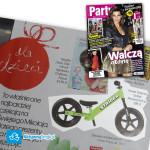 Rowerek biegowy Strider w dwutygodniku Party w dziale prezenty dla dzieci