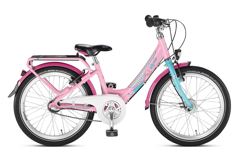 Różowo-turkusowy rower Puky Skyride 20-3 Alu Light