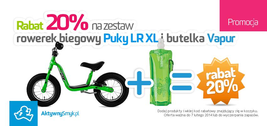 Rabat 20% na zestaw rowerek biegowy Puky LR XL i butelka Vapur