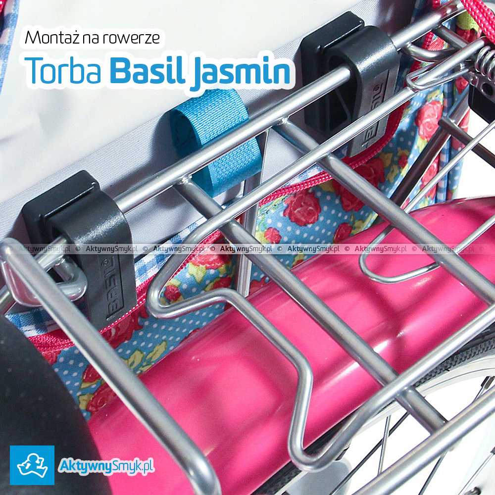 Montaż torby Basil Jasmin do bagażnika roweru dla dziecka
