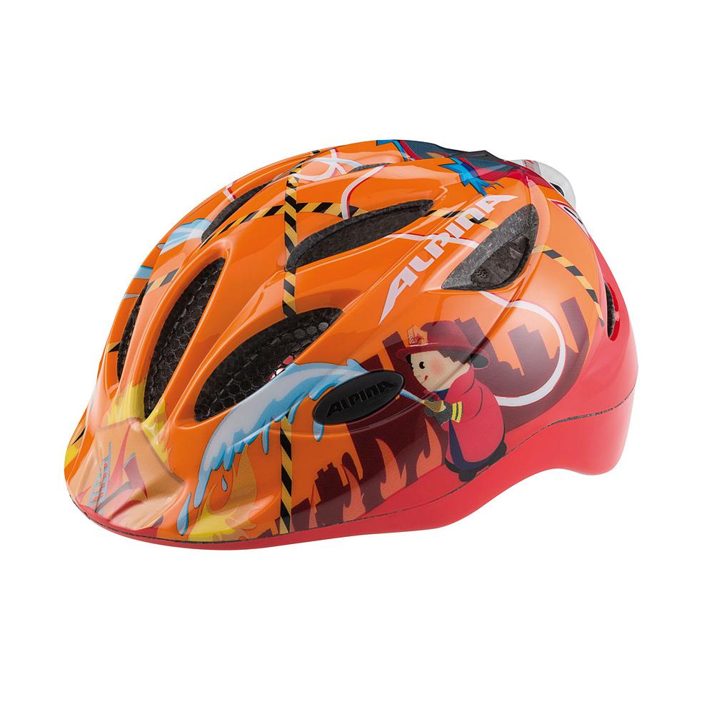 """Pomarańczowy kask rowerowy Alpina Gamma Flash """"Firefighter"""""""