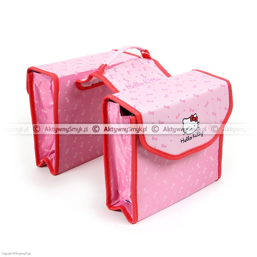 Różowe sakwy z Hello Kitty