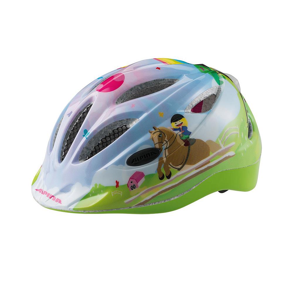 """Niebiesko-zielony kask rowerowy Alpina Gamma Flash """"Horse"""""""
