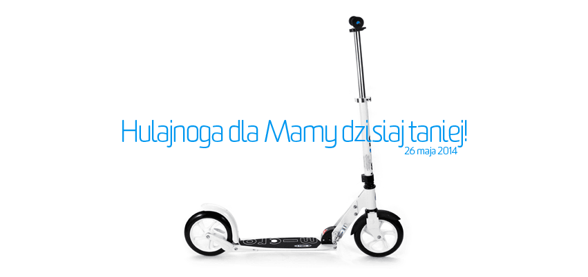 Dogoń, na hulajnodze Micro White, swoje dziecko jadące na rowerku biegowym lub hulajnodze Mini Micro.