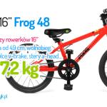 Nowość | Lekki rowerek 16″ Frog 48