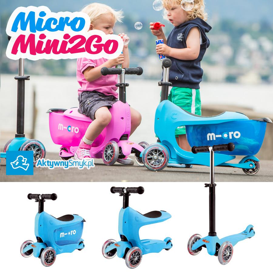 Mini2Go - jeździk i hulajnoga Micro