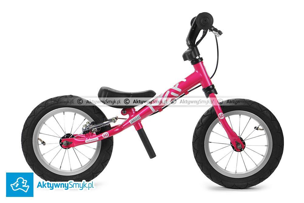 Różowy rowerek biegowy Yedoo Fifty B dla wzrostu 85 cm, wiek 1,5+