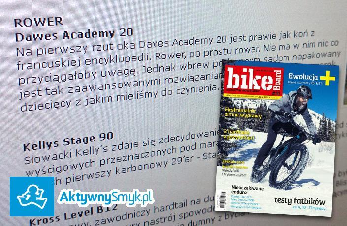 Magazyn rowerowy bikeBoard o lekkim rowerze dla dziecka - Dawes Academy 20