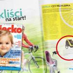 Cykliści na start! – miesięcznik Dziecko nr 5 maj 2015 – przyczepka Burley