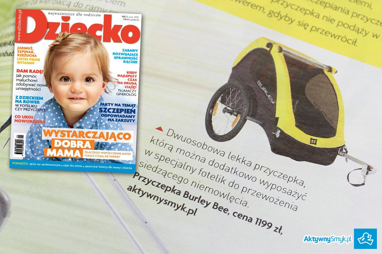 Miesięcznik Dziecko nr 5 maj 2015 - przyczepka Burley - sklep AktywnySmyk Warszawa Białobrzeska 5